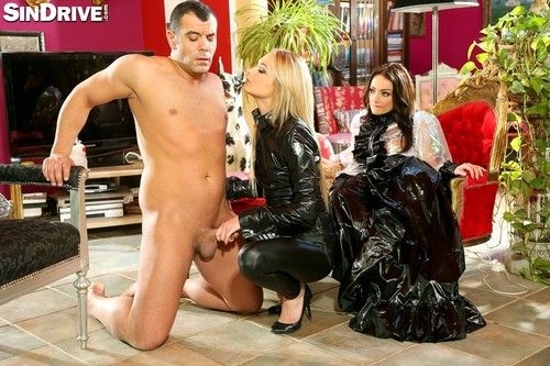 SinDrive.com - Sophie Lynx & Ivana Sugar - Shiny Fashionistas FemDom Their Boy-Toy Until He Can Take No More!