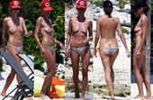 Heidi Klum Pillada En Topless Mexico 15 Abril 2014